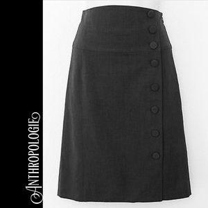 ANTHROPOLOGIE Elevenses black pencil skirt